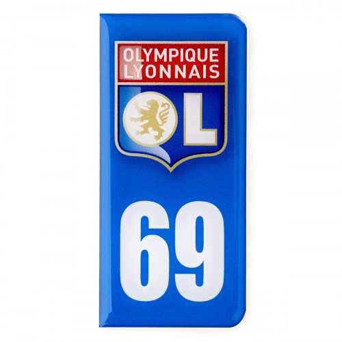 Sticker Plaques Immatriculation Olympique Lyonnais