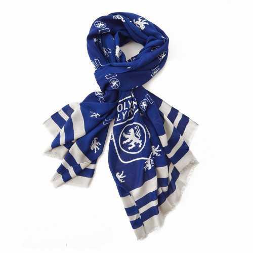 Chèche bleu/argent All-Over Mini Lion Mini Logo OL - Taille - SANS