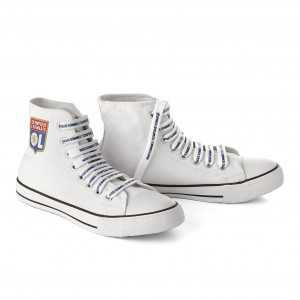 Chaussures montantes toile blanche Olympique Lyonnais