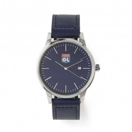 Montre homme bracelet cuir bleu marine OL - Taille - Unique