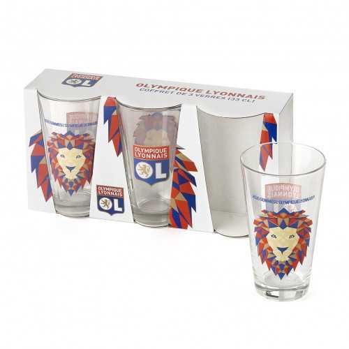 Lot de 3 verres 33 cl Lion Pop - Taille - Unique