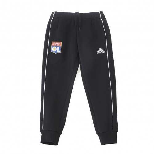 Pantalon détente molleton noir Junior OL adidas 19-20 - Taille - 13-14A