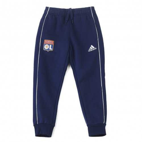Pantalon détente molleton bleu marine junior OL adidas 19-20 - Taille - 13-14A