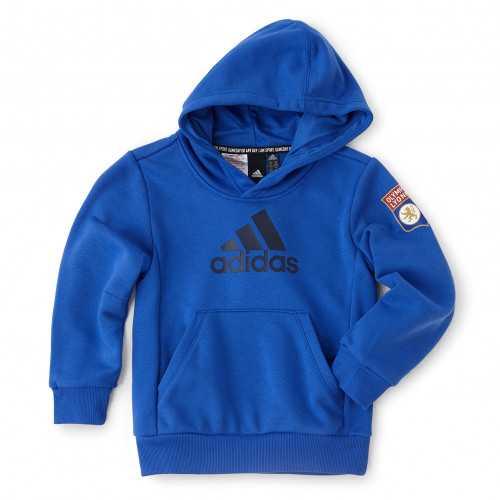 Sweat à capuche Bleu adidas enfant - Taille - 7-8A