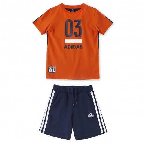 Ensemble Bleu/Orange adidas Enfant - Taille - 7-8A