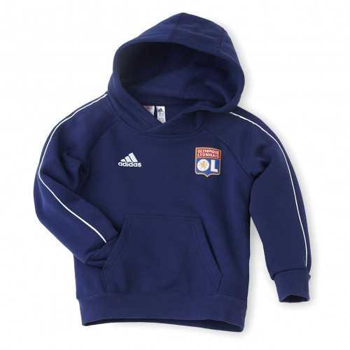 Sweat à capuche molleton bleu adidas junior - Taille - 7-8A