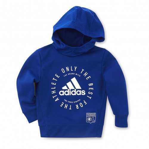 Sweat à capuche adidas bleu junior - Taille - 7-8A