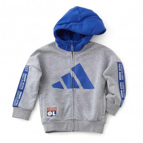 Veste à capuche grise et bleue adidas junior - Taille - 7-8A