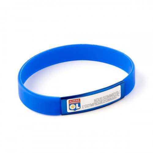Bracelet Silicone Adulte NOUS SOMMES l'OLYMPIQUE LYONNAIS - Couleur - NOIR